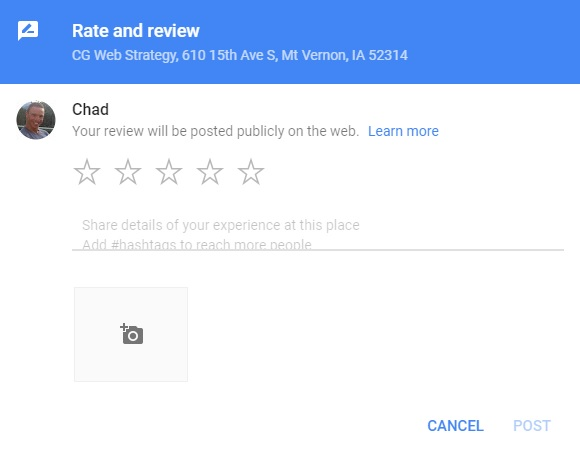 Google review box