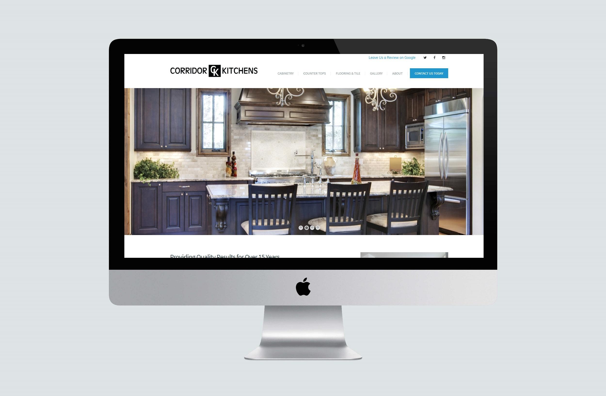 Corridor Kitchens website