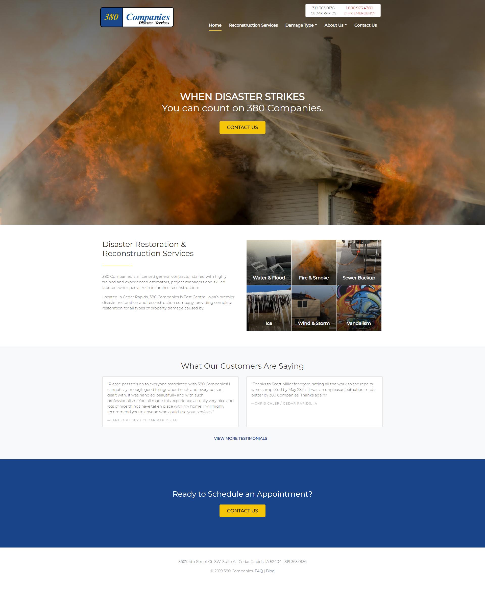 380 Companies homepage
